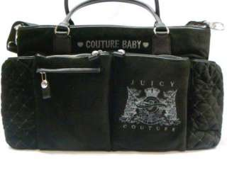 Juicy Couture Scottie Crest Black Pink Baby Diaper Bag