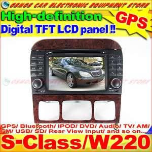 MERCEDES BENZ S Class/W220 S280/S320/S350 HD LCD Screen GPS Navi Car