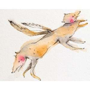 Art Reproduction Oil Painting   Two Headed Dog   Small 8