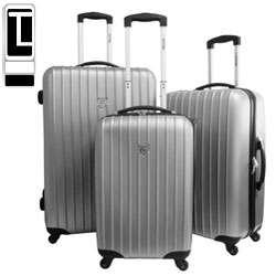Travel Concepts Viaggio Silver 3 piece Polycarbonate Luggage Set