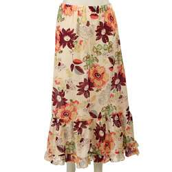 FINAL SALE Necessary Objects Juniors Long Tiered Floral Print Skirt