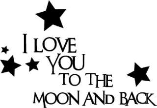 Love You To The Moon Wall Words Stickers Vinyl Decals