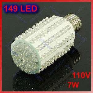 149 LED E27 White Bright Corn Light Bulb 110V Lamp 7W