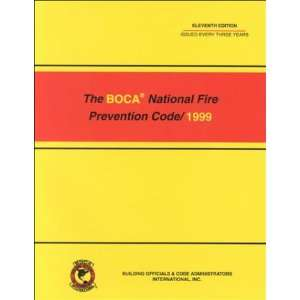 Boca National Fire Prevention Code 1999 (9789999878159