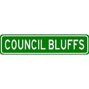 COUNCIL BLUFFS City Limit Sign   High Quality Aluminum