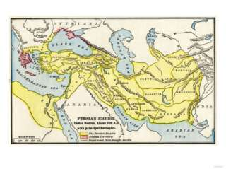 Map of the Persian Empire under Darius I, with Principal Satrapies