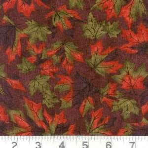 Nights Maple Leaves Eggplant Fabric By The Yard: Arts, Crafts & Sewing