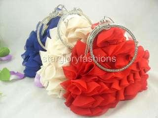 Georgette Multi Layers Wedding Crystal Wristlet 3 Colors ECG 07225