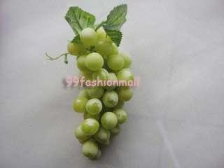 Artificial Grapes Cluster Home Garden Decor Fake Fruit 4 Colors
