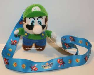 Super Mario Brothers luigi Lanyard Key Chain 4 Plush