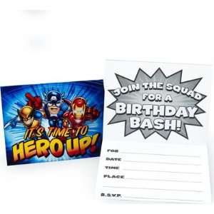 Marvel Super Hero Squad Invitations (8 count)  Toys & Games