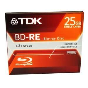 O TDK O   Disc   Blu ray   Single Layer   25GB   Rewritable