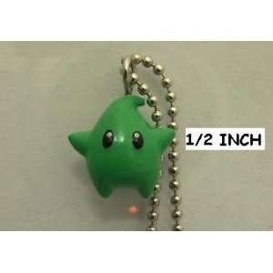 Super Mario Galaxy Tiny Mini Luma Figure Keychain Green ( Figure Size
