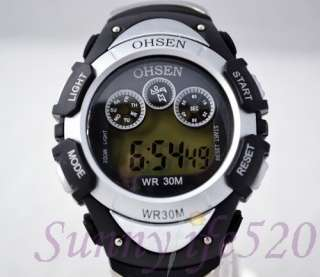 Ohsen Digital Water Proof Boy Girl Children Sport Watch