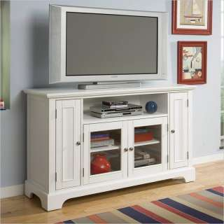 Home Styles Naples Entertainment Credenza White TV Stand 095385789183