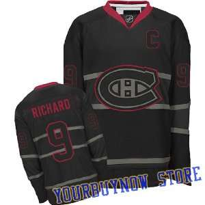 Montreal Canadiens Black Ice Jersey Hockey Jersey (Logos, Name, Number