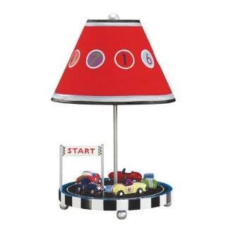 RACE CAR table LAMP boys KIDS racecar BEDROOM decor