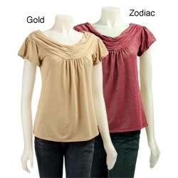 One West New York Womens Metallic Shirt