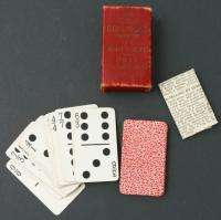1906 Antique U.S. Playing Cards Dominoes Fortune Telling Sniff Block