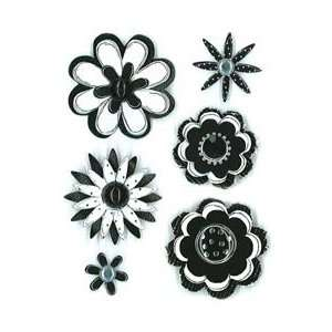 25 Sheet Black Sketch Flowers PESM 73, 6 Items/Order: Home & Kitchen