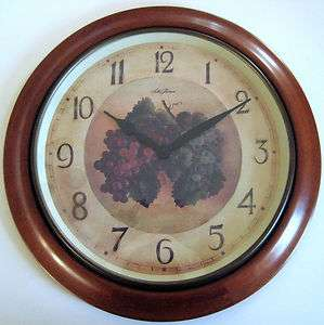 Seth Thomas Vineyard Grape Wood Wall Clock