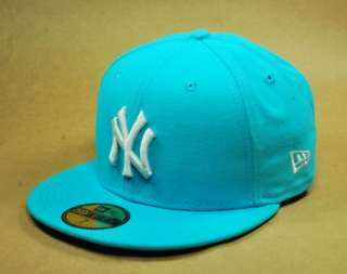 NEW ERA HAT 59FIFTY BASEBALL CAP NEW YORK YANKEES VICE BLUE NY LOGO