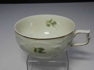Rosenthal Selb Germany Sanssouci Green Flower Cup 2 T
