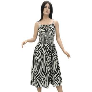 La Leela Animal skin ptd sundress beach tank dress tube top club wear