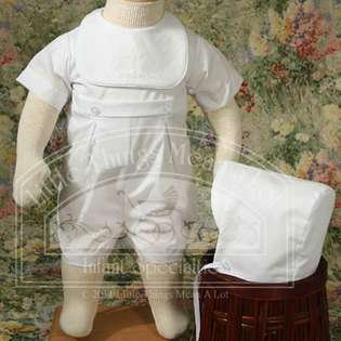 Little Things Mean A Lot Baby Boys Cute White Button Romper Baptism