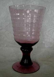 Beautiful Sirrus Amethyst/Purple Blown Glass Water Goblet