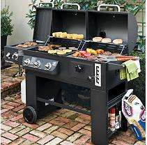 Hybrid Grill Infrared, Propane Gas and Charcoal Cooking System   Sam
