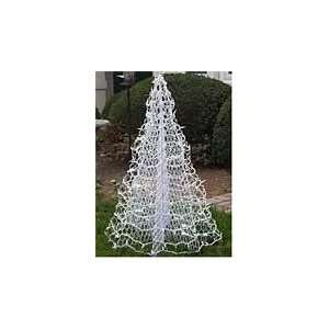 Snow White Crab Pot Pre Lit Wire Christmas Tree ( Foldable
