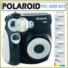Polaroid PIC 300 Instant Camera in Black + Accessory Kit