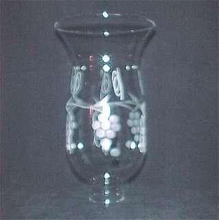 Clear Cut Glass Hurricane Lamp Shade 1 5/8 X 8 Grapes