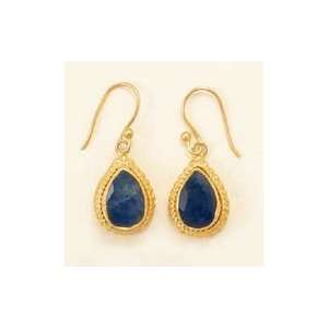 14K Gold Plated Sterling French Wire Earrings, 7x12mm