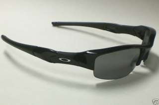 OAKLEY FLAK JACKET 12 900 POLARIZED BLACK SUNGLASSES