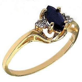 and Diamond Accent Ring. 10k Yellow Gold  Jewelry Gemstones Rings