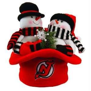 12 NHL New Jersey Devils Plush Snowmen Top Hat Christmas