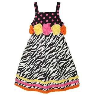 Zebra Print Girls Dresses