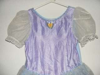 Disney Store Cinderella Costume Dress Gown Medium 7/8