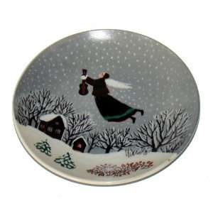Flying Girl with Violin Ceramic Plate