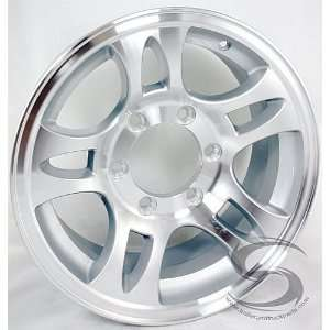 15 x 6 Aluminum Bullet Trailer Wheel 6 on 5.5 Bolt Pattern Automotive