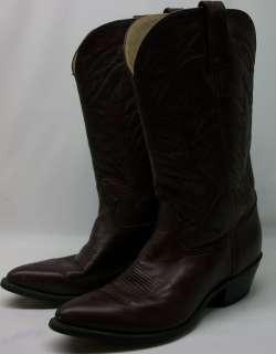Mens COWBOY Western Boots Burgandy 8.5 D