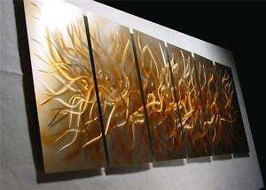 ABSTRACT CONTEMPORARY Painting METAL MODERN art