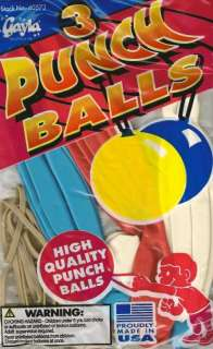Punch Ball Balloons HIGH QUALITY Multiple Colors NEW