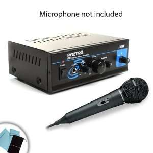 Mini Stereo 2x15W Power Amplifier w/ Speaker, Headphone