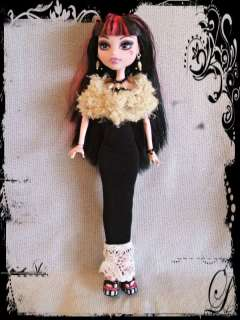 GOTH FASHION Clothes Gown Stole Jewelry 4 MONSTER HIGH DOLL d4e