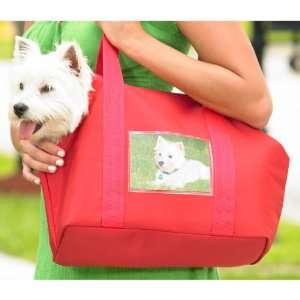Photo Pet Carrier Tote Bag Small Red