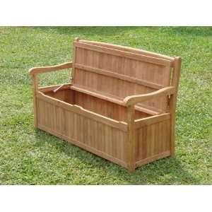 A Grade Teak Outdoor / Indoor Bench with Storage Patio