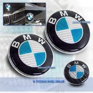 BMW 95 01 E38 7 Series Carbon Fiber Hood Trunk Roundel Steering wheel